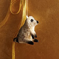 Bottle Brush Ornament - Raccoon