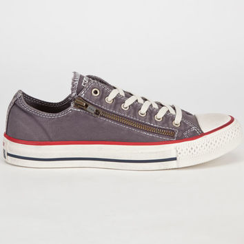 Converse Chuck Taylor Double Zip Womens Shoes Graphite  In Sizes