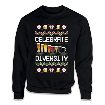 Celebrate Diversity Beer Ugly Sweater - ILA-43