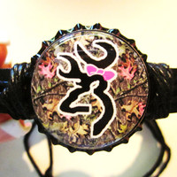 Camo Browning with Bow Bottlecap Adjustable Black by sydni1999