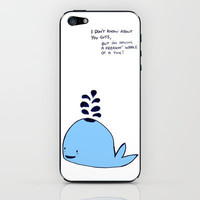 Whale iPhone & iPod Skin by Laura Tucker | Society6