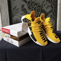 Mens Brand Originals Running Shoes Human Race Sneakers Sports Boost ADS