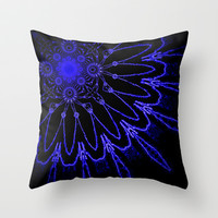 Electric Flower Throw Pillow by 2sweet4words Designs