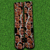 Kim Kardhasian Crying Socks,Custom socks,Personalized socks,Elite socks
