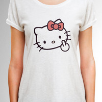 Hello Kitty shirt, Hello Kitty Top with adult design, Hello Kitty T shirt, Hello Kitty, Funny Shirt, Gift for Her