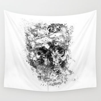 King Dusty - BW ED Wall Tapestry by HappyMelvin Protanopia