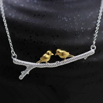 womens lover bird necklace gift box jewelry 80  number 1