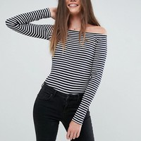 ASOS Tall Body In Stripe With Long Sleeve at asos.com