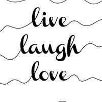 Live Laugh Love - Minimalism - Monochrome Canvas Print by Kris James