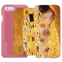 The Kiss Gustav Klimt romantic love Art Nouveau iPhone 6/6s Wallet Case