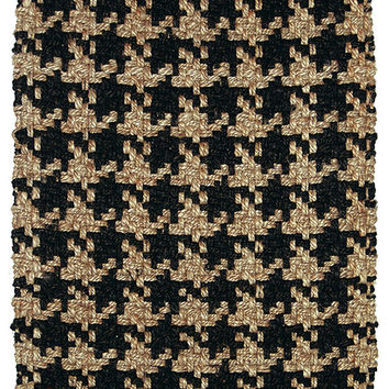 Houndstooth Jute Area Rug in Brown design by Classic Home