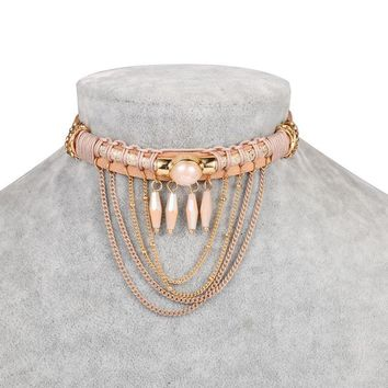Stylish Pearls Chain Alloy Tassels Accessory [30852349972]