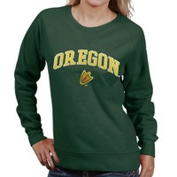Oregon Ducks Ladies Classic Crew Sweatshirt - Green