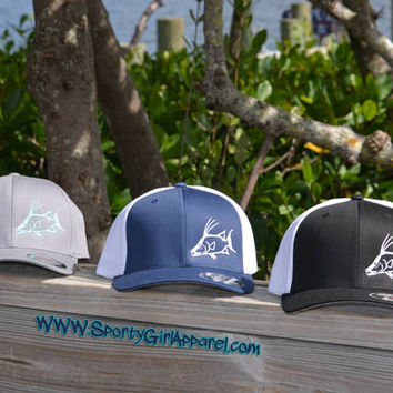 Flexfit fishing hog fish hats, mens hogfish caps