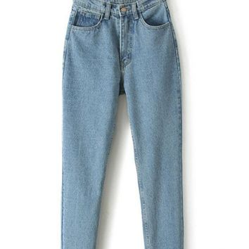 PEAPD High Waist Boyfriend Denim Haroun Jeans
