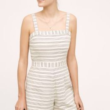 Paper Crown Lexington Romper in Neutral Motif Size: