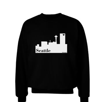 Seattle Skyline with Space Needle Adult Dark Sweatshirt by TooLoud