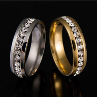 Never Fade 18k Gold Plated 316l Stainless Steel Ring Titanium Steel Engagement Wedding Rings For Women Men Jewelry anillos sa924