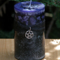 Hekate's Crossing . Fusion Pillar Candle 3x4 . Change, Personal Acceptance and Growth, New Beginnings, Banishing That Which Does Not Serve