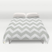 Chevron Sea Salt Duvet Cover by Beautiful Homes