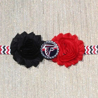 NFL Atlanta Falcons inspired headband- perfect for football season!  Atlanta Falcons Baby Headband, Atlanta Falcons Girl Headband