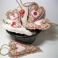 Mother's Day, Fabric Hearts, Spring, Farmhouse, Scented, Unscented, Handmade Hearts, Country, Cottage, Home Decor, Wedding, Gift, Ornaments