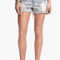 Fire Studded Destroyed Cutoff Shorts (Juniors) | Nordstrom