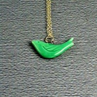 FREE SHIPPING A LITTLE BIRDIENECKLACE by ManoCelebrates on Etsy