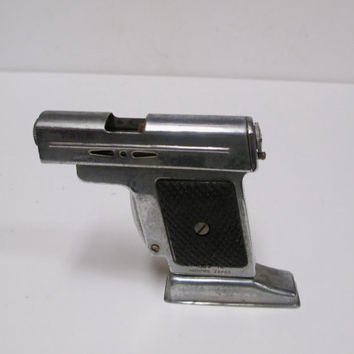 Occupied Japan Pistol Lighter Vintage Table Cigarette Liter  For Parts Repair