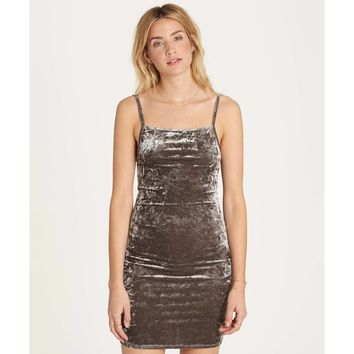 Billabong Women's Mystic Dream Velvet Dress | Silver