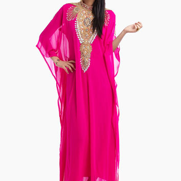 Shop Haya's Closet Embellished Jalabiya pink - Women Clothes in UAE