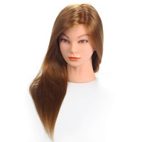 """20""""Mannequin Head Hair Synthetic Mannequin Hairdressing Doll Heads Cosmetology Mannequin Heads Women Hairdresser Manikin Sale."""