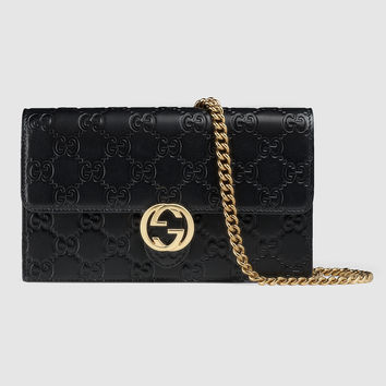 Gucci - Gucci Icon Gucci Signature chain wallet
