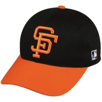 MLB Cooperstown ADULT San Francisco GIANTS Orng/Black Hat Cap Adjustable Velcro TWILL Throwback