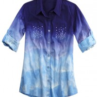 Dye Effect Woven Shirt | Girls {category} {parent_category} | Shop Justice