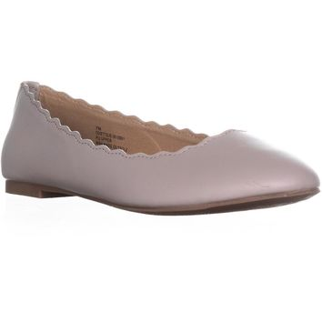 ESPRIT Odette Scalloped Edge Ballet Flats, Dove Grey, 8 US