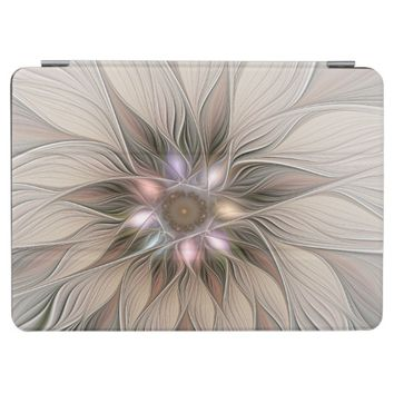 Joyful Flower Abstract Beige Brown Floral Fractal iPad Pro Cover