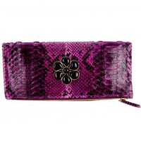 Clutch - python - deep purple and black