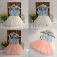 Cute Kids Girls Princess Denim Strap Veil Baby Dresses Toddler Clothing 6M-4Y = 1930091204