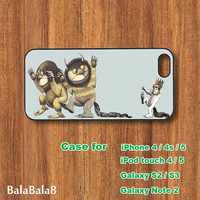 Where the Wild Things Are - iPhone  4 case, iphone 5 Case,  iPod 5 case,  Samsung Galaxy S3 case, Galaxy S4 case, Galaxy note 2 case