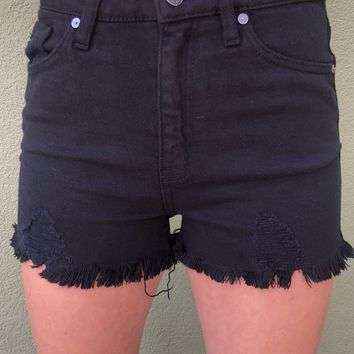 Kan Can High Rise Shorts- Black