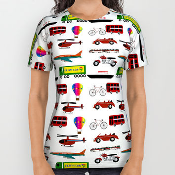Planes, Trains and Automobiles All Over Print Shirt by Chris Bradbury