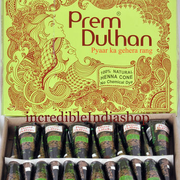10 x henna Cone Prem Dulhan henna herbal cone temporary tattoo  at amazing price   Body Arts,Fresh Stock!! body art  for specialwedding!