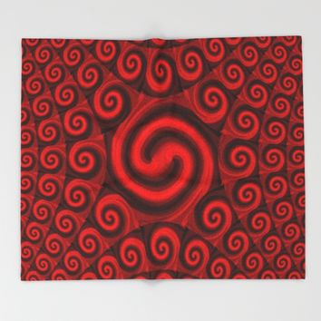 Red Christmas Decoration #4 Throw Blanket by Moonshine Paradise