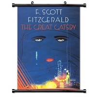 The Great Gatsby (F. Scott Fitzgerald) Fabric Wall Scroll Poster (16 x 23) Inches