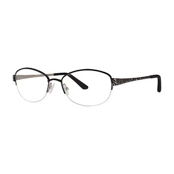 Dana Buchman - Eugenia 54mm Black Silver Eyeglasses / Demo Lenses