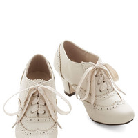 ModCloth 20s Dance Instead of Walking Heel in Cream