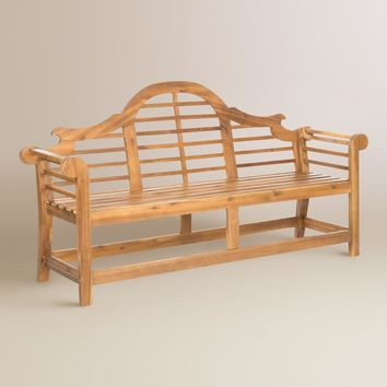 Natural Brown Wood Nerano Outdoor Bench