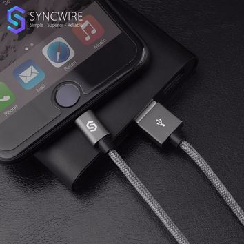 Syncwire Durable 2.4A Fast Charging Lightning To USB Cable 1m/2m Nylon Braided M