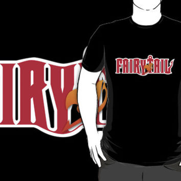 Fairy Tail Anime Manga Black T-shirt